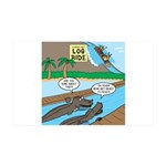 Alligator Hunting 35x21 Wall Decal