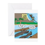 Alligator Hunting Greeting Cards (Pk of 20)
