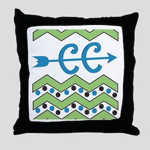 Chevron Dots Cross Country Throw Pillow