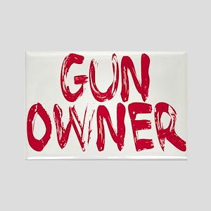 Woman Gun Owner Rectangle Magnet