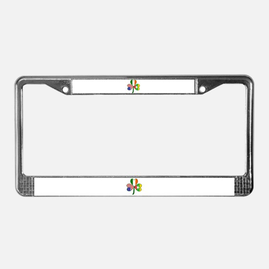 Shamrock of Burma or Myanmar License Plate Frame