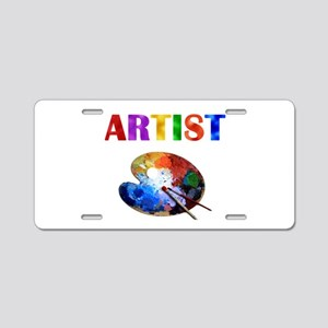 Artist Aluminum License Plate