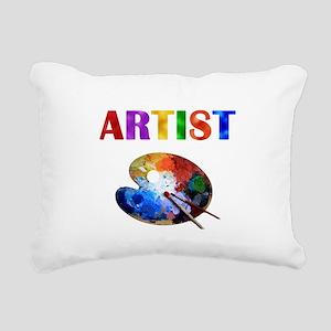 Artist Rectangular Canvas Pillow