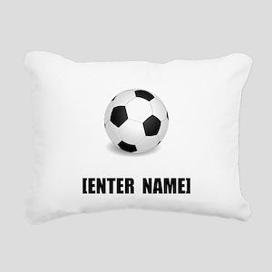 Soccer Personalize It! Rectangular Canvas Pillow
