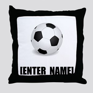Soccer Personalize It! Throw Pillow