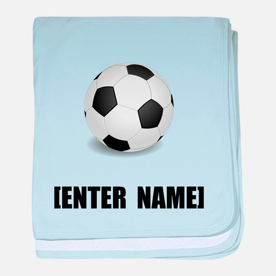 Soccer Personalize It! baby blanket