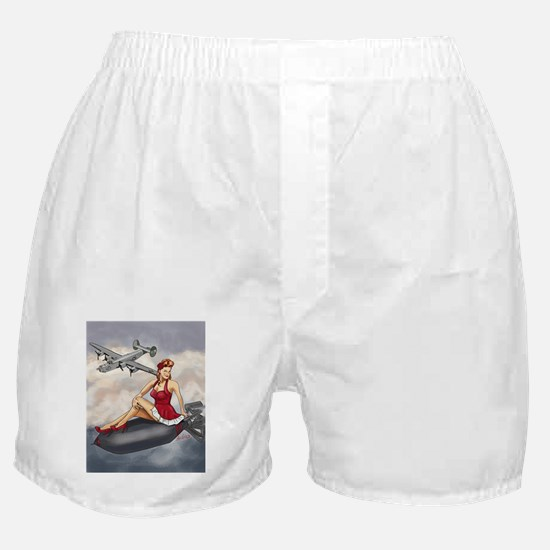 Bomber Girl WWII Pin-Up Boxer Shorts
