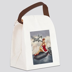 Bomber Girl WWII Pin-Up Canvas Lunch Bag