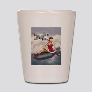 Bomber Girl WWII Pin-Up Shot Glass