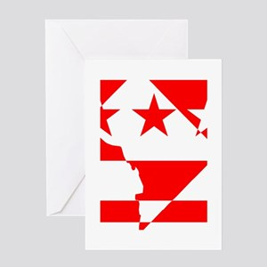 DC Borders Inverted Greeting Card