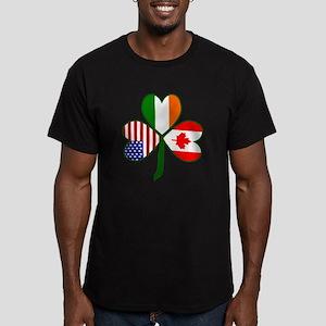 Shamrock of Canada Men's Fitted T-Shirt (dark)