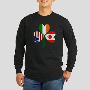 Shamrock of Canada Long Sleeve Dark T-Shirt