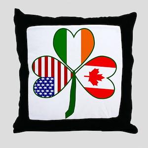 Shamrock of Canada Throw Pillow