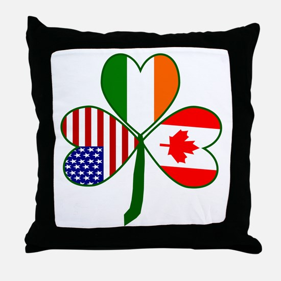 Shamrock of Canada Throw Pillow
