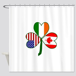 Shamrock of Canada Shower Curtain