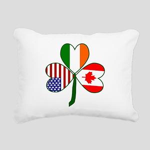 Shamrock of Canada Rectangular Canvas Pillow