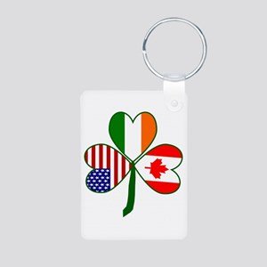 Shamrock of Canada Aluminum Photo Keychain