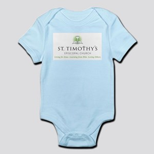 St. Timothy's Logo with Tagline Infant Bodysuit