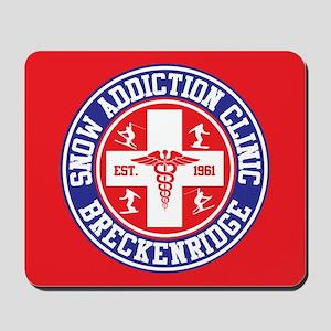 Breckenridge Snow Addiction Clinic Mousepad