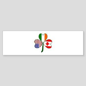 Shamrock of Canada Sticker (Bumper)