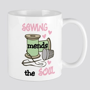 Sewing Mends The Soul Mug