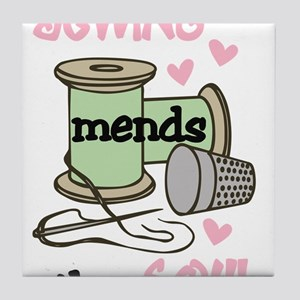 Sewing Mends The Soul Tile Coaster