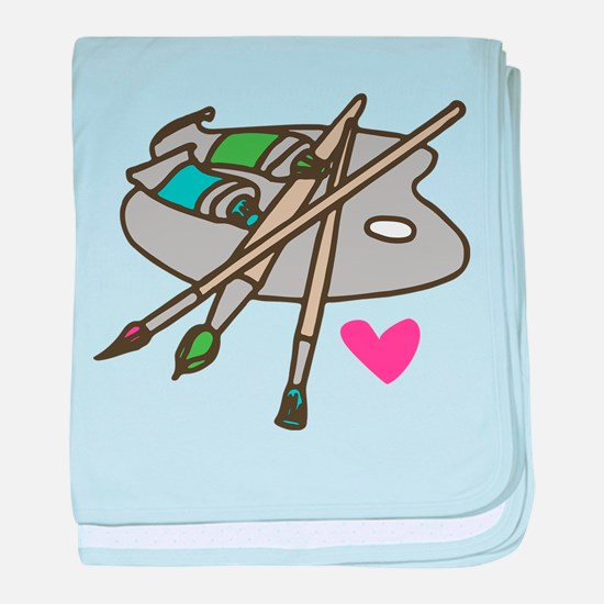 Painter's Palette baby blanket