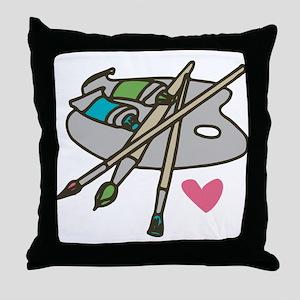 Painter's Palette Throw Pillow