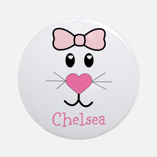 Bunny face customized Ornament (Round)