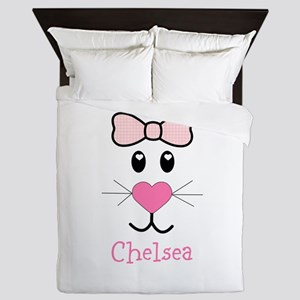 Bunny face customized Queen Duvet