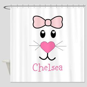 Bunny face customized Shower Curtain