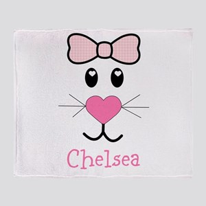 Bunny face customized Throw Blanket