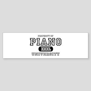 Piano University Bumper Sticker