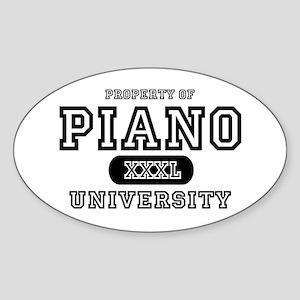 Piano University Oval Sticker