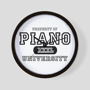 Piano University Wall Clock