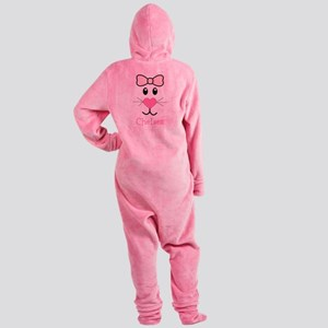 Bunny face customized Footed Pajamas