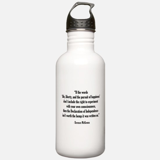 Terence McKenna Quote Water Bottle