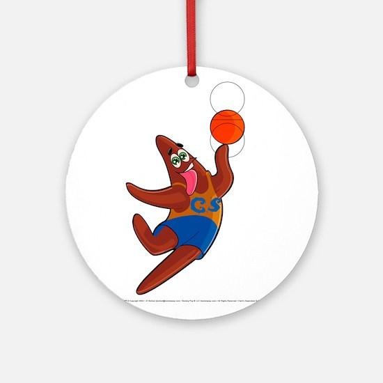 B-Baller Ornament (Round)