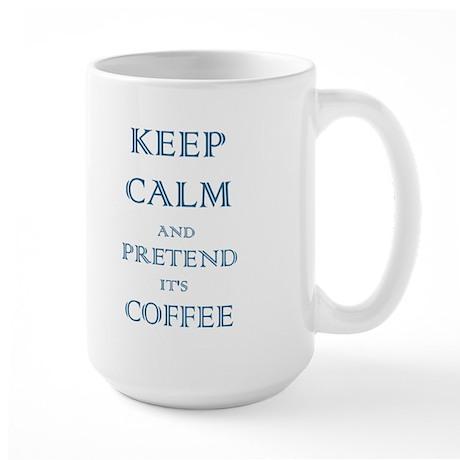 Coffee - Keep Calm (Night) Large Mug