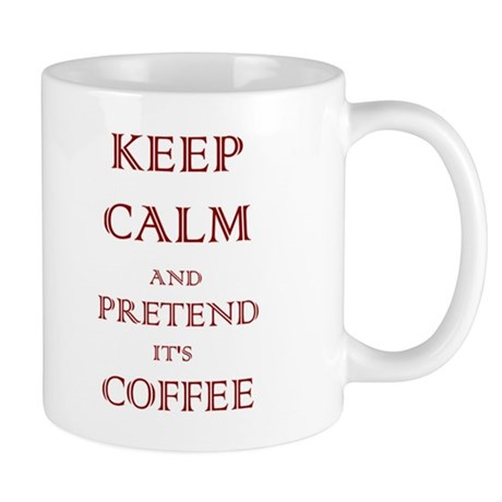Coffee - Keep Calm (Maroon) Mug