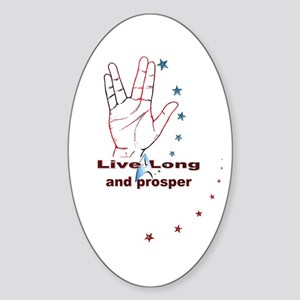 Live Long and Prosper: Sticker (Oval)