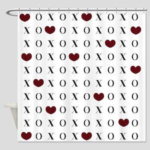 XOXO Hearts Shower Curtain