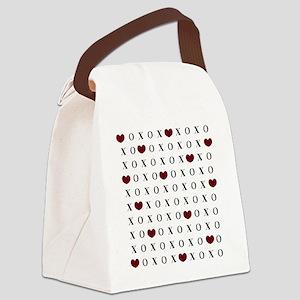 XOXO Hearts Canvas Lunch Bag