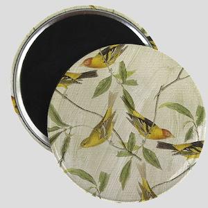 Vintage Yellow Birds Magnet