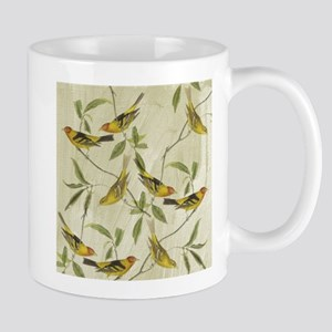 Vintage Yellow Birds Mug