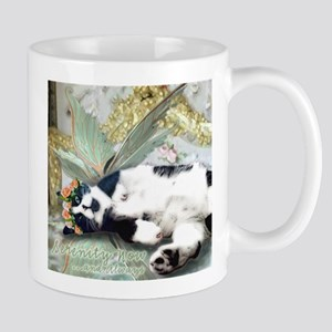 Tuxedo Cat Fairy Tile Stainless Steel Travel Mugs
