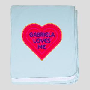 Gabriela Loves Me baby blanket