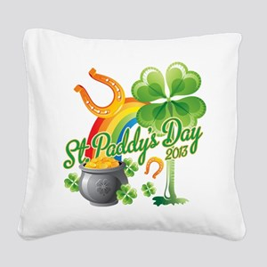 St. Paddys Day 2013 Square Canvas Pillow