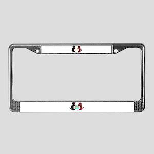 Ninja and Buddha  License Plate Frame