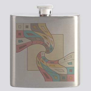 Geometric abstract Flask